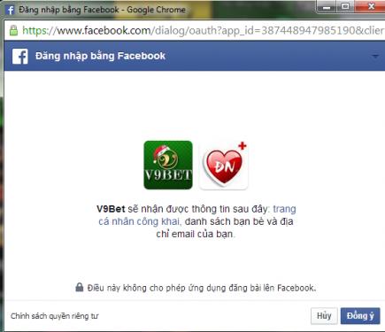 Đăng ký V9Bet dễ dàng với tài khoản Facebook