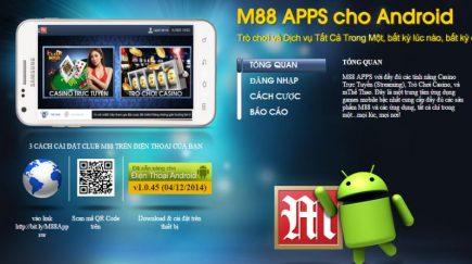 Ứng dụng M88 di động dành cho Android