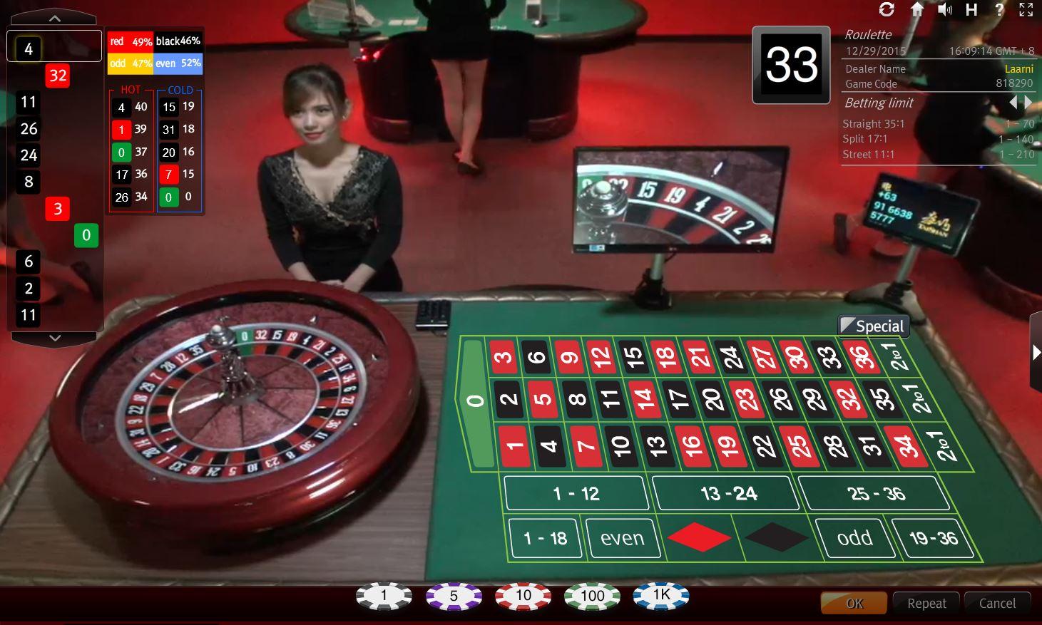 Ky nang roulette