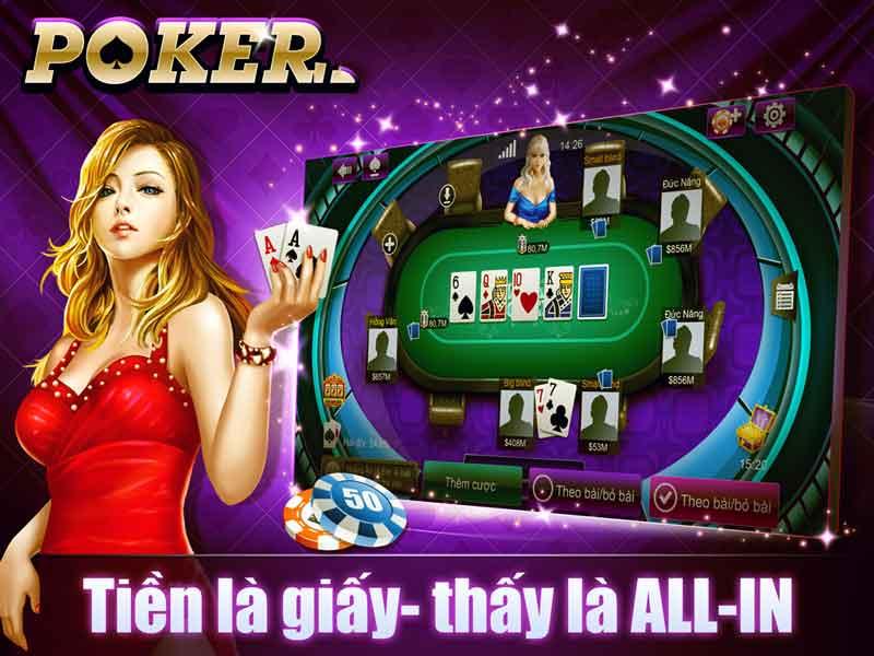giải trí cùng bài poker
