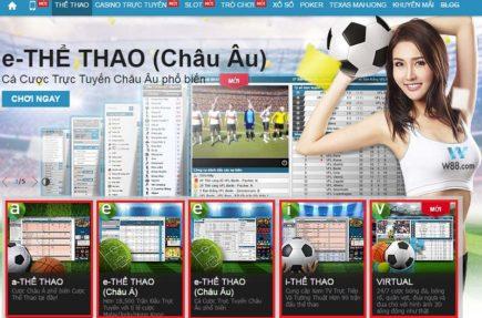 Trải nghiệm sản phẩm e-Thể thao (châu Á) tại nhà cái cá cược W88