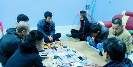 Bắt sới bạc 'khủng' trong đêm ở Ninh Bình