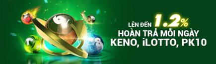 FB88 hoàn trả 1.2% mỗi ngày keno – ilotto – pk10