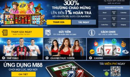 Nhà cái m88 hoàn trả hàng ngày đến 0.8% tại casino trực tuyến