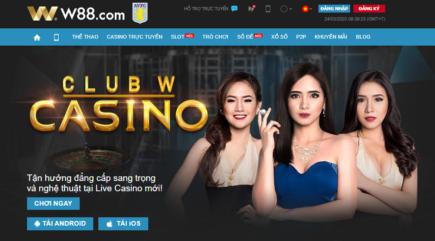 Nhà cái w88 thưởng 10% nạp lại hàng ngày tại club w-casino trực tuyến
