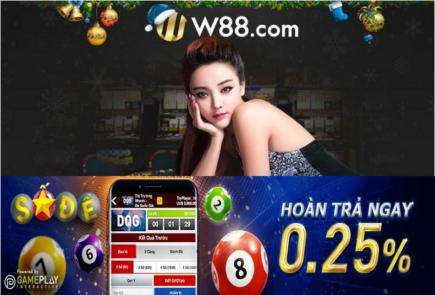 W88 hoàn trả ngay 0.25% tại số đề