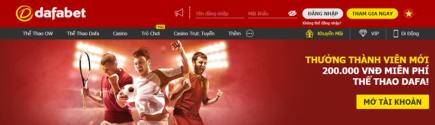 Dafabet thưởng thành viên mới tại thể thao dafa