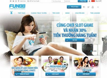 Fun88 thưởng nạp lại 20% tại sòng bài trực tuyến hàng tuần