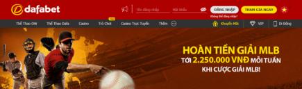 Nhà cái dafabet hoàn tiền MLB mỗi tuần