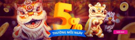Nhận thưởng ngay 5% lên đến $25 mỗi ngày tại happyluke