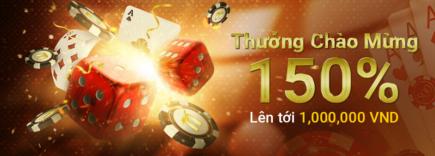 Thưởng chào mừng 150% casino tại nhà cái nextbet