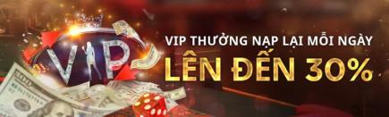 Thưởng nạp lại mỗi ngày lên đến 30% tại live casino house