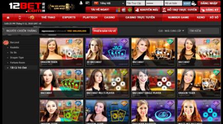 Nhà cái 12bet thưởng 100% đăng ký game trực tuyến