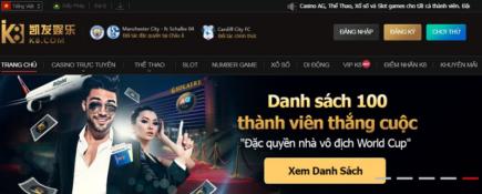 Nhà cái k8 hoàn trả 1% casino trực tuyến
